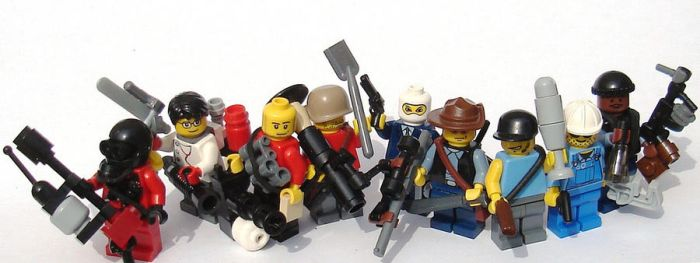 Team Fortress 2 LEGO minifigures by Mister-oo7