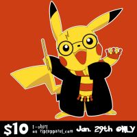 Pikachu as Harry Potter T-Shirt for $10 Jan. 29th! by trekvix