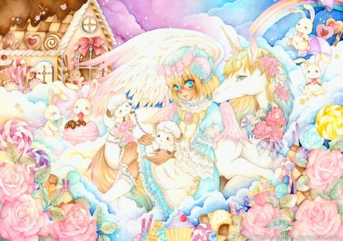 Hug in Candyland by laverinne