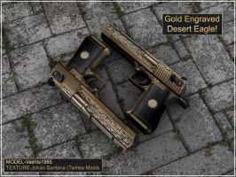 Golden Engraved Desert Eagle by Kosai106