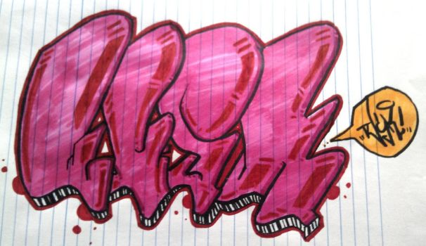 Light Red Throwie by Callibretto