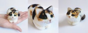 Felted Cat by Lumichi