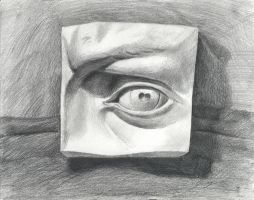 Pencil Sketching - Eye by JerryCai