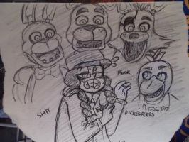 Five Nights @ Freddy's by maggiemeg1234