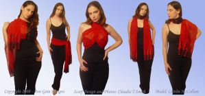 Scarlet Sunset Scarf by HasturCTS