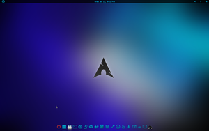 Black and Blue V2.5 Gnome Shell Theme by CraazyT