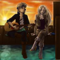 Sunset Serenade for Illucian by KatChan00