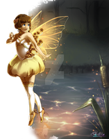 The golden faerie by Belliko-art