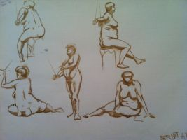 study of a fat naked woman by Bartok88