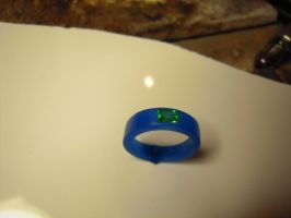 blue wax green stone by Debals