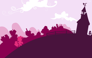 Ponyville silhouettes: Pinkie Pie by Chelidoni