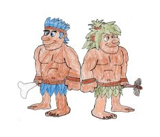 Joe and Mac the cavemen ninjas by trexking45