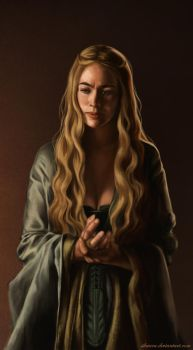 Cersei Lannister study by andrada-art