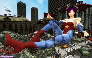 Lilith Aensland's big romp in the city by GenSamus