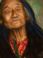 Portrait of an Old Woman by hydraa