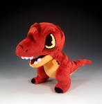 T-Rex Plush by caffwin
