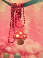 Mushroom Necklace by BaileyNickerson