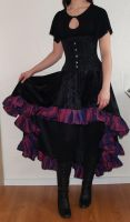 Goth skirt with purple taffeta by livia-drusilla