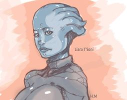 Liara-sketch by EICHH-EMMM