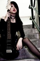 Faux Goth Guitar Chick by kimmchi