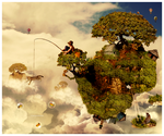 ..fishing in the sky.. by w-melon