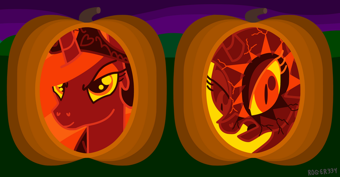 Collection of Pumpkins IV by Roger334
