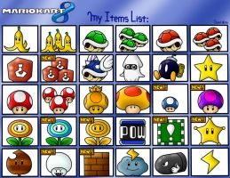 Mario Kart 8: My Items List by SuperLakitu