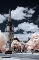 Infrared Church I by HannahAKingsley