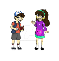 Mabel and Dipper Pines by Twilightzonegirl13
