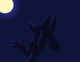 Lucario in the moonlight 2 by Evzoozer64