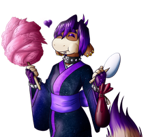 Tracy enjoys some candy floss by coyotepack