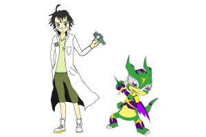 Digimon Partners: Shermy and Sekimon V2 by FEISAR-CSY