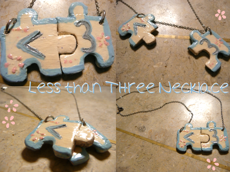 Less Than Three Necklace by CreativeClara