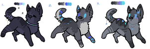 Dog/Wolf Auction! :CLOSED: by misconceiving