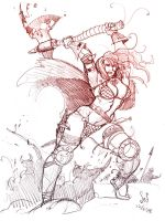 Chainsketch: Red Sonja by Jebriodo