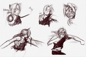 Action Sketches by Jessimie