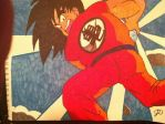 Goku Kamehameha on Raditz by: Joseph Drane by DraneAnimation1