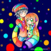 Matt and Rose - Rainbow Lovers by Anime-Angelz