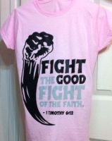 Womens-Fight-Light Pink by CoveredNTheWORDcom