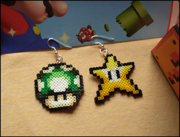 Mario Earrings by Feena-chan