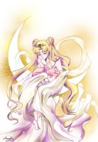 Neo Queen Serenity and Princess Rini by Windemo