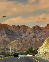 Fujairah mountains road by amirajuli