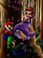 Flute in the Forest. by lunar-maiden