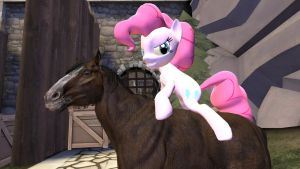 A horse ...riding a horse by Conker139