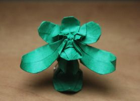 Origami Orchid by nekomancer123