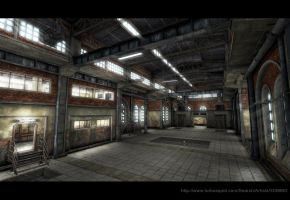 Old Factory Interior Low Poly by Sergey-Ryzhkov