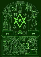 unicursal hexagram Alchemy ancient Egypt Crowley by Mikewildt