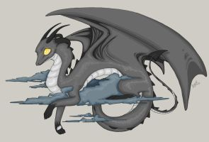 DC: Gray Dragon by Rooncakes