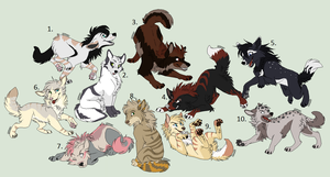 Breedable Canines (closed) by Sukida-Adopts
