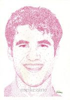 Darren Criss - Pointillism by MeikeZane